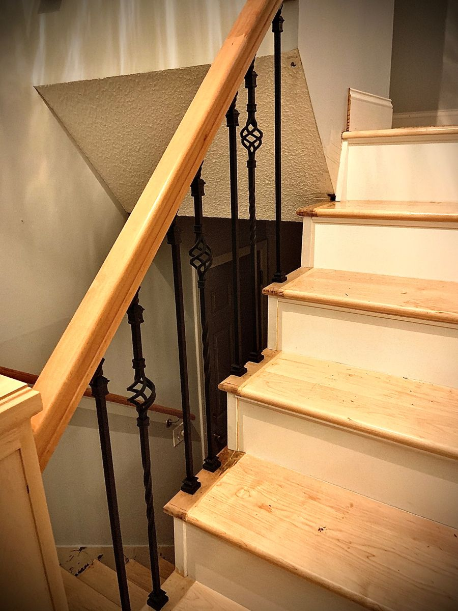 Best Custom Built Maple Newel Posts Railings Stair Treads And 400 x 300