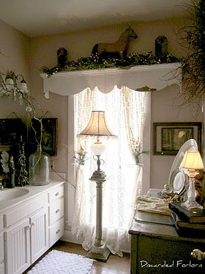 `Love the over-sized shelf above the window. What a Great Idea!