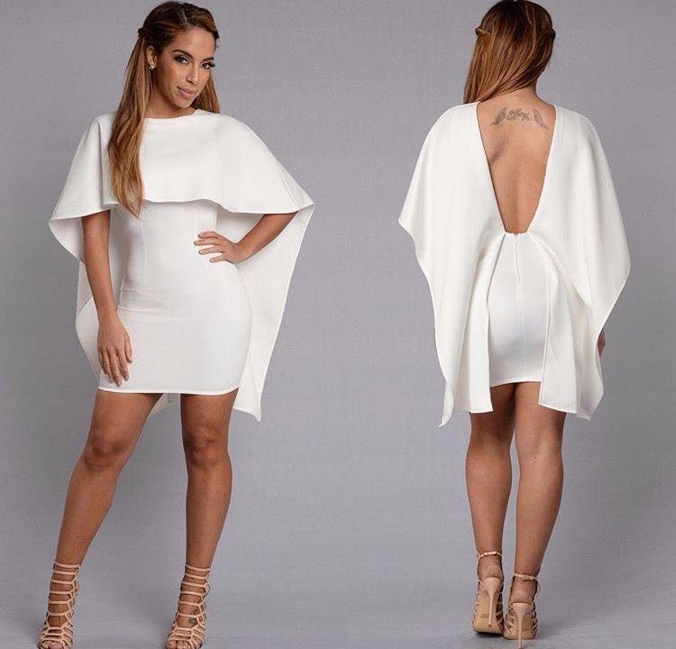FashionNova white dress Cape dress, Dresses, Fashion
