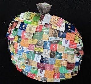 Barbara Bartlett - tea bag art. Clever clutch!