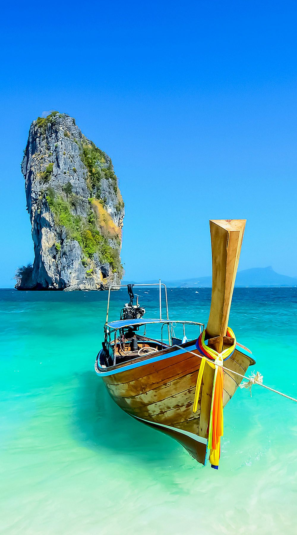 ~Cliff and boat in Krabi, Phuket, Thailand | 10 Idyllic Surreal Places that Make Thailand One of the Most Beautiful Country in The World
