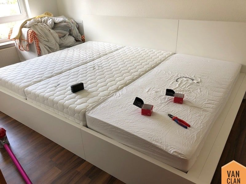 Photo of Build a 2.70m wide family bed based on Ikea Malm | | vanclan.de