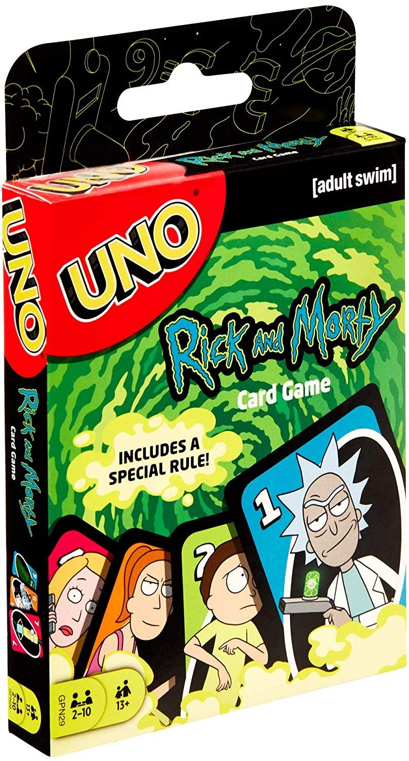 UNO Rick and Morty Card Game in 2020 Card games
