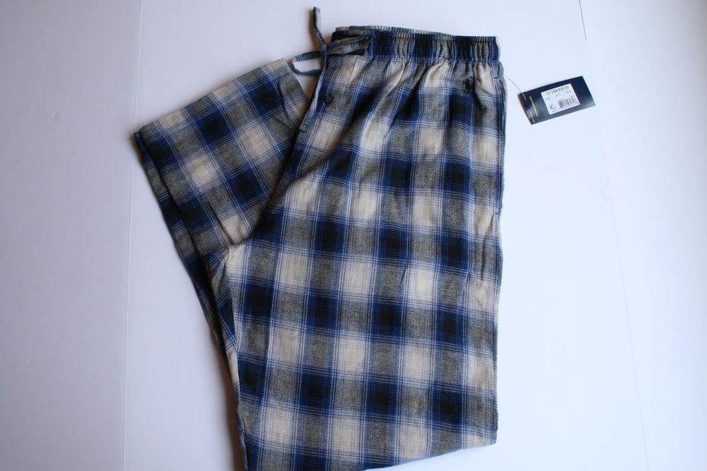 NWT POLO RALPH LAUREN MENS NAVY LITTLE PONY RUGBY LOUNGE PAJAMA PANTS SZ MED