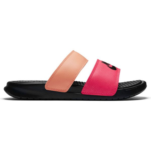 31130009c Nike Benassi Duo Ultra Slide Womens Slide Sandals ( 30) ❤ liked on Polyvore  featuring
