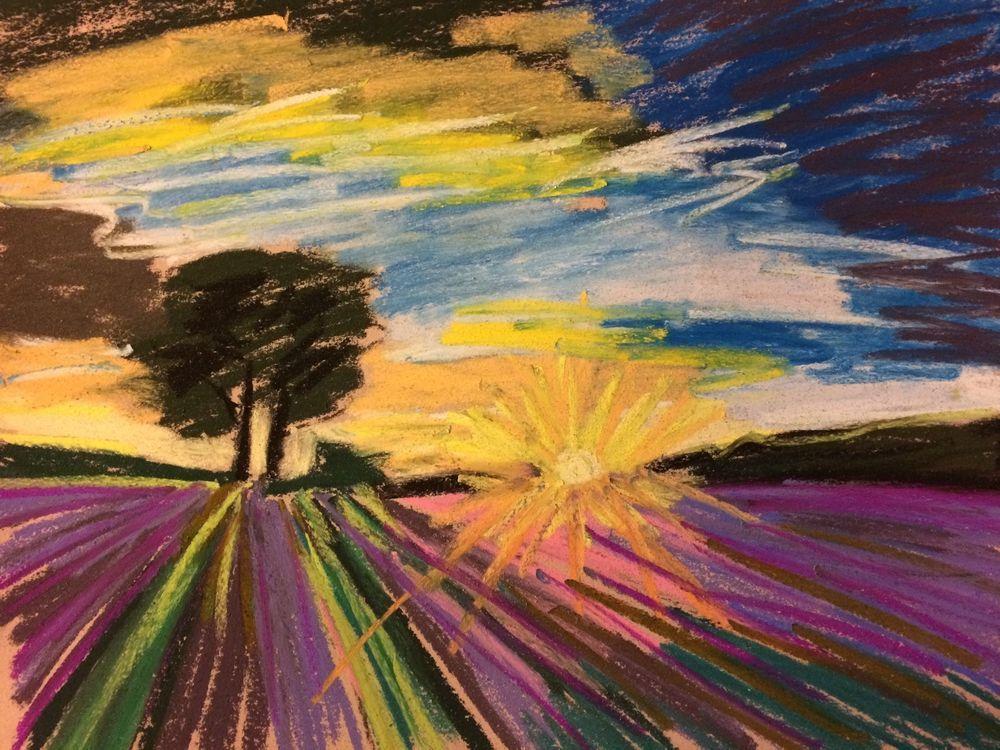 eBay now listing. Original 9x12 soft pastels on Colourfix paper by Tim Bruneau! Bids start 1 penny! Artist Landscape Soft Pastels Original Tim Bruneau Impressionism 2000-Now #Impressionism