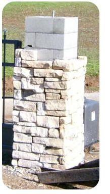 Masonry Columns Backyard Drive