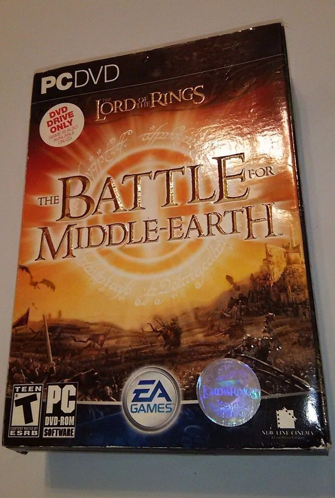 Lord Of The Rings Battle For Middle Earth PC DVD Strategy Game HTF #ElectronicArts