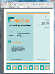 Real Estate Property Sales Services Proposal  Create Your Own