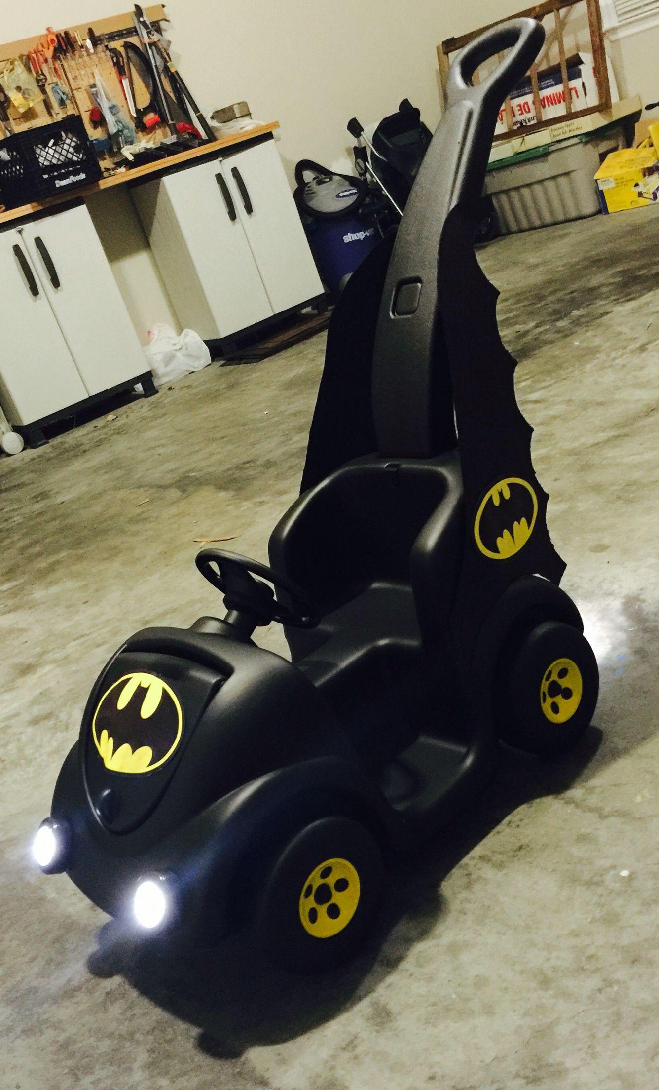 Batmobile I made for my grandson for baby parade