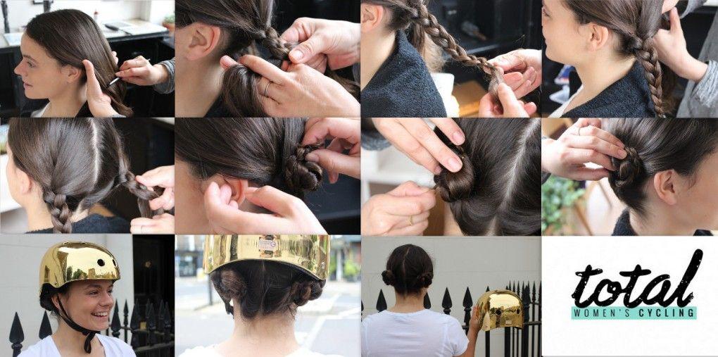 Hairstyles For Helmets Plait Buns Plaited Bun Hair Styles Plait