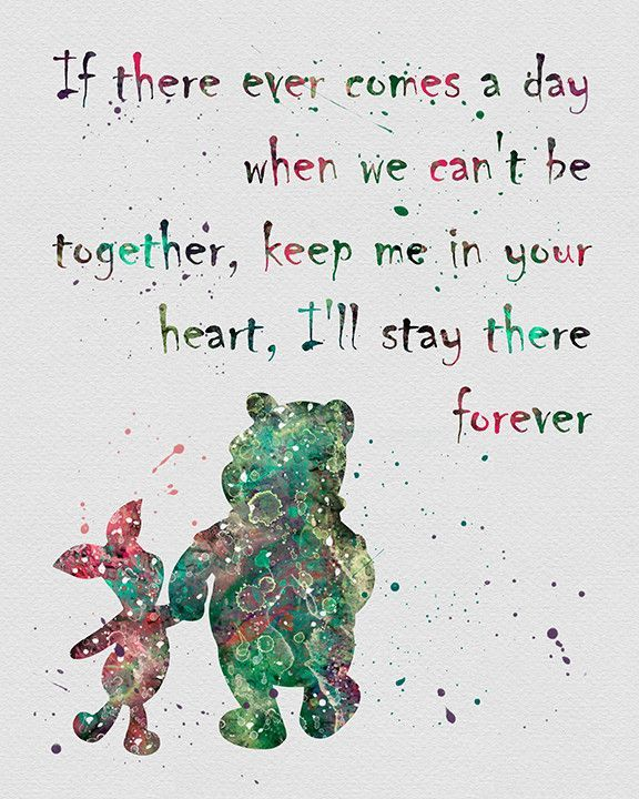 Winnie The Pooh Quote 2 Watercolor Art Print Tattoos Quotes