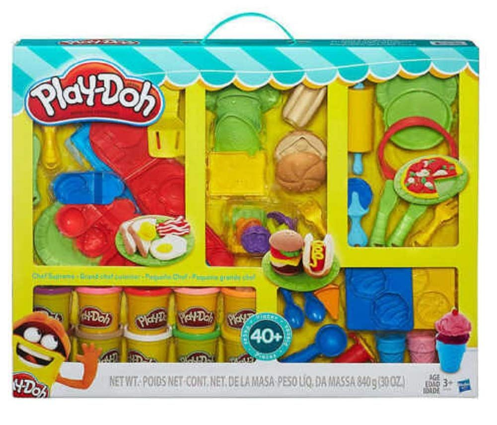 Play Doh Chef Supreme Play Kitchen Set With 40 Accessories Clay Play Doh Play Doh Colors Cooking Toys
