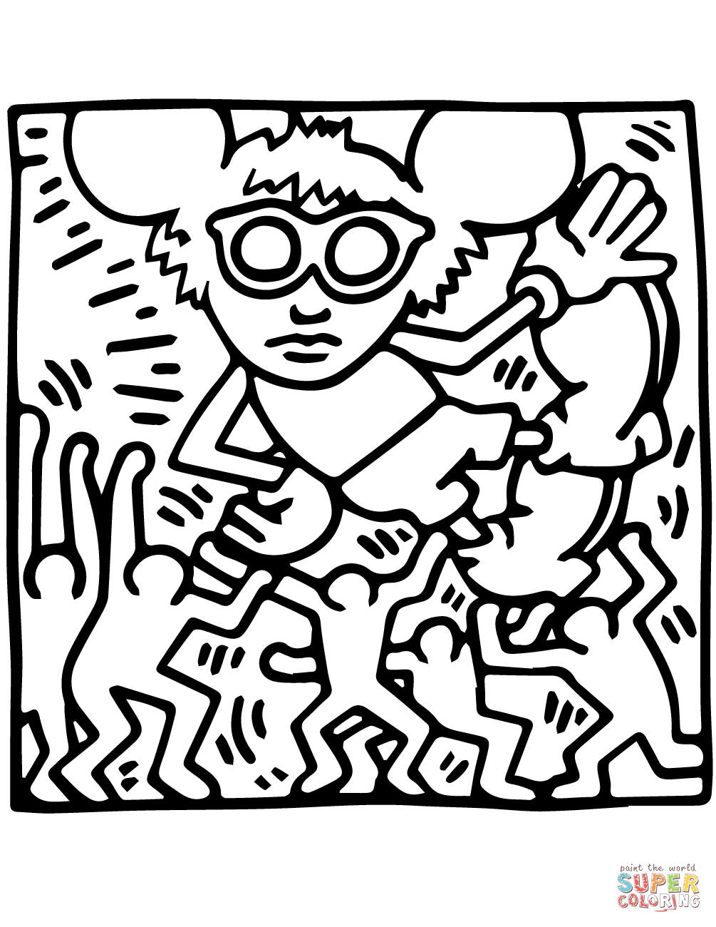 Keith Haring Coloring Pages | Free Coloring Pages | Haring ...