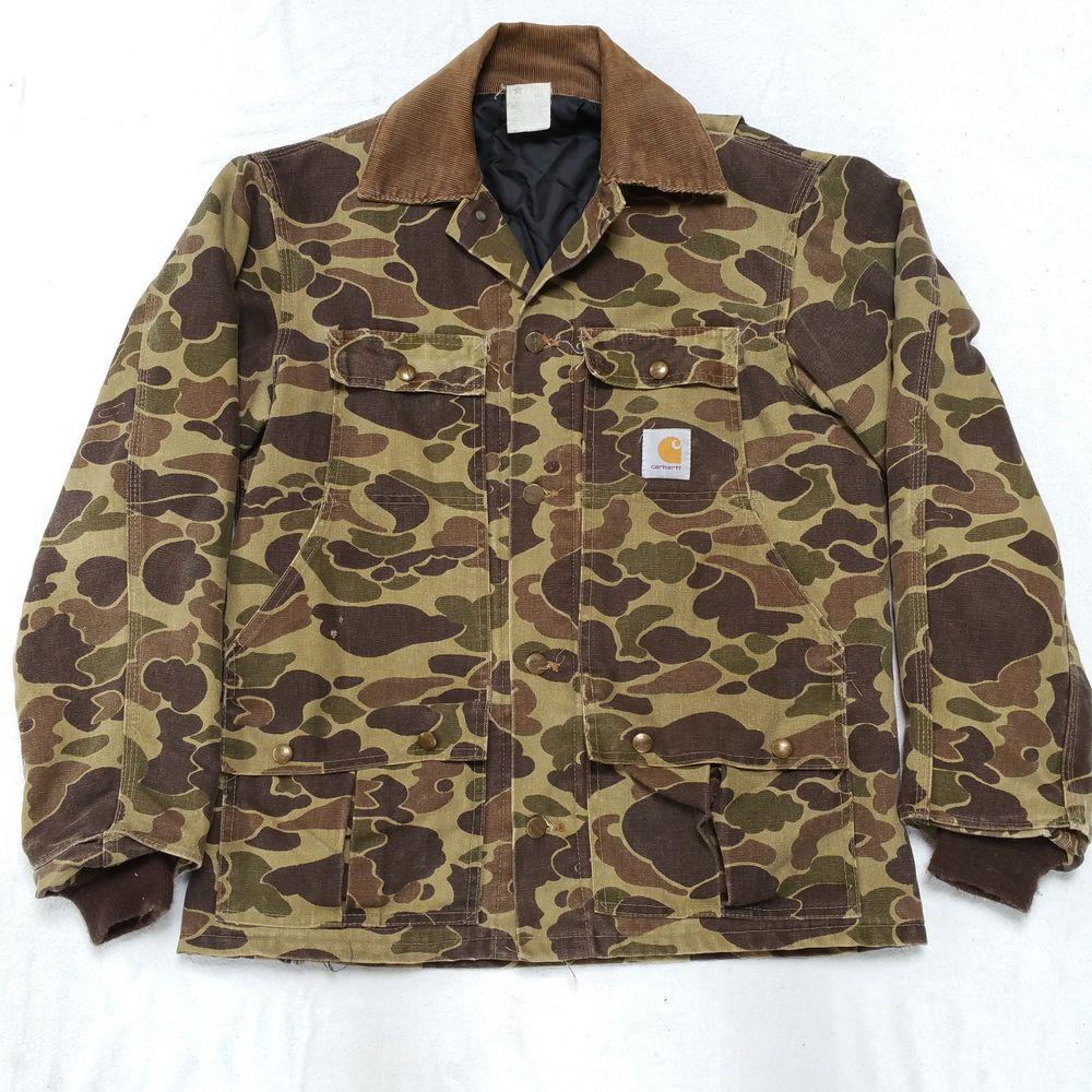 ce8a714c23586 Vintage Carhartt Beo Gam Camo Camouflage Hunting Jacket Mens Medium # Carhartt #BasicJacket
