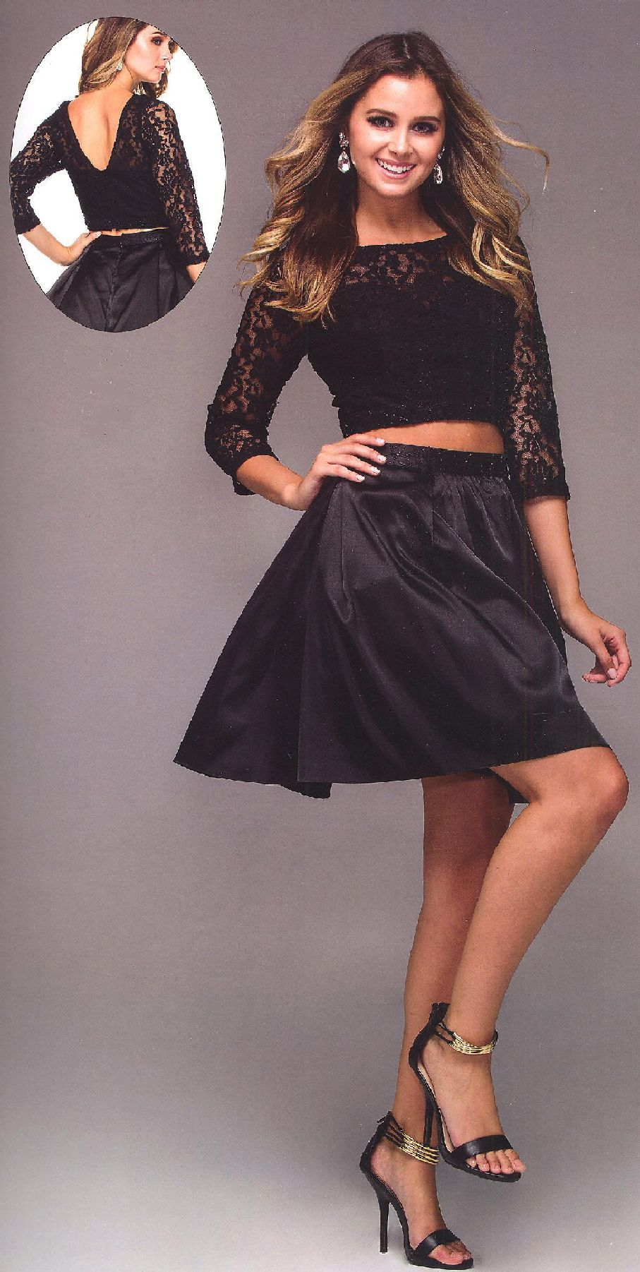 Two Piece Homecoming Dresses Prom Dresses under $200<BR>6166<BR>Two ...