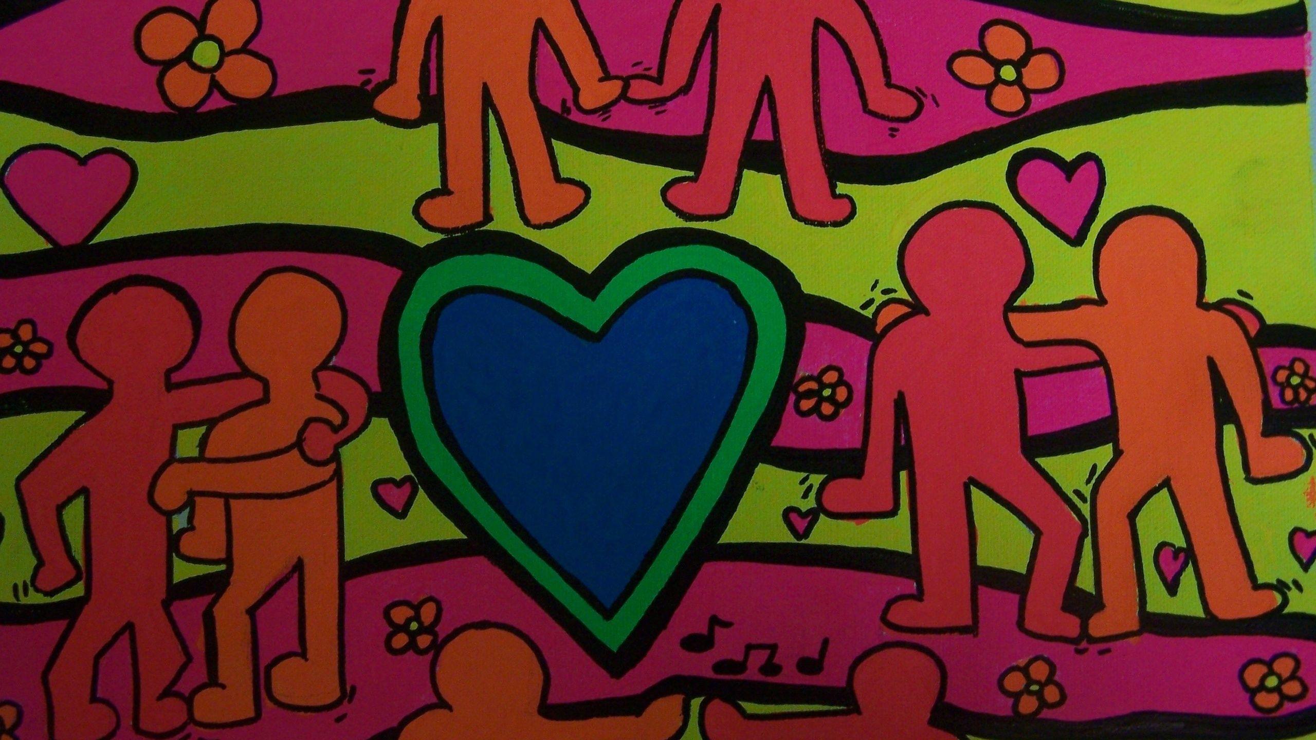 2560x1440 Street Art Keith Haring