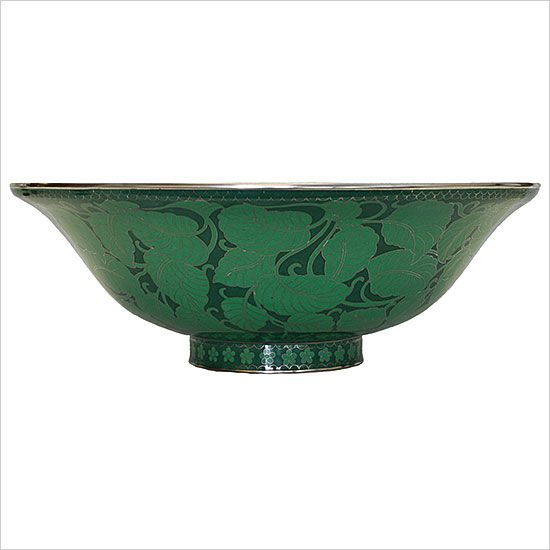 Cloisonné Green Leaves Vessel Sink | Cloisonné Sinks | Linkasink