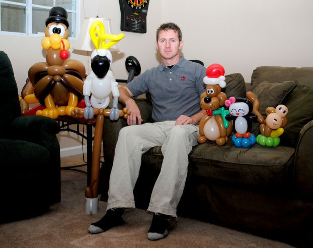 Carbondale balloon artist finds his niche and creates his own company, Magical Twists