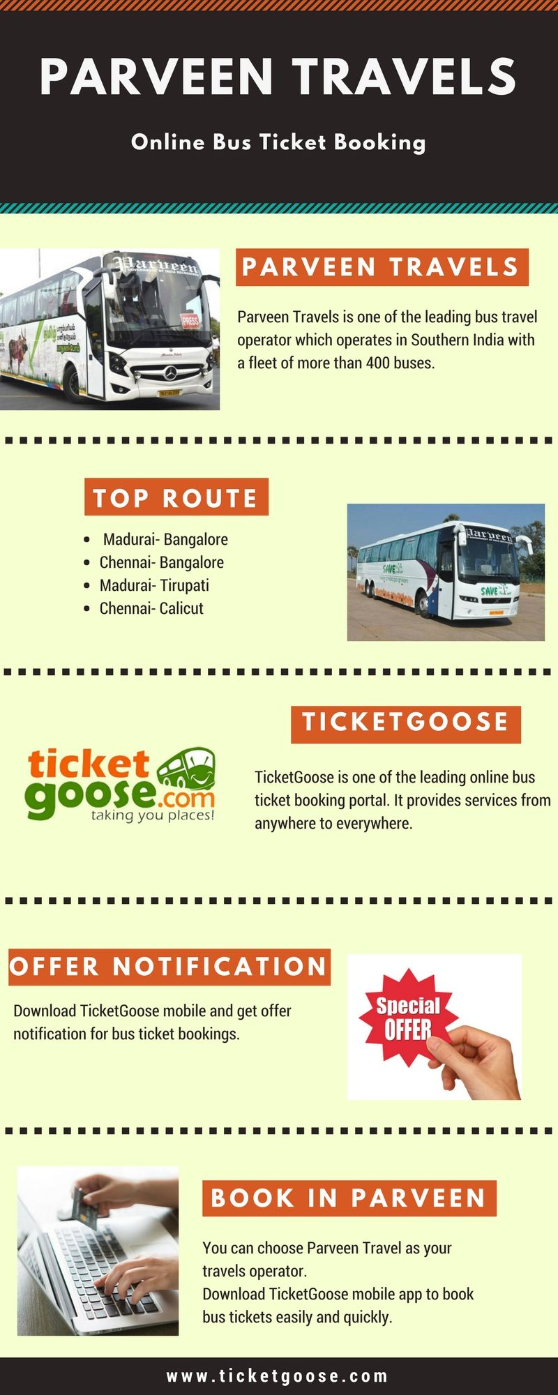 Pin By Ticketgoose On Parveen Travels Bus Travel Bus Tickets Travel