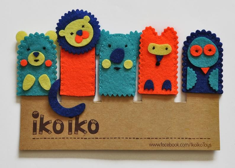 IKO Forest Finger puppets -Toy Puppet - Hand puppet - Set of 5