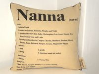 Grandma Dictionary Pillow Perfect Gift For Grandma To List All Her Special Attributes And Qualities We Can Personalise The Name Gifts Nanna Buy Gifts Online