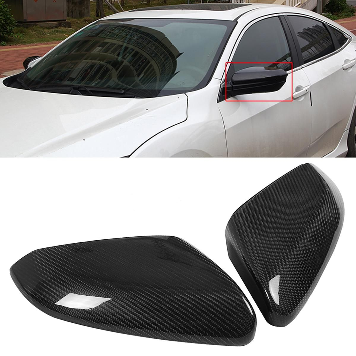 Autoleader 1pair Direct Replacement Carbon Fiber Side Mirror Covers Exterior Accessories Cover Caps Honda Civic Accessories Civic Accessories Honda Civic 2016
