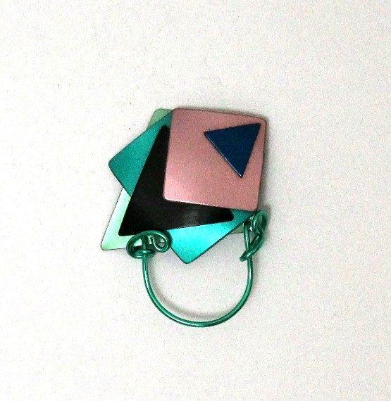 Magnetic Eyeglass Holder in Teal Black by LauraWilsonGallery, $75.00