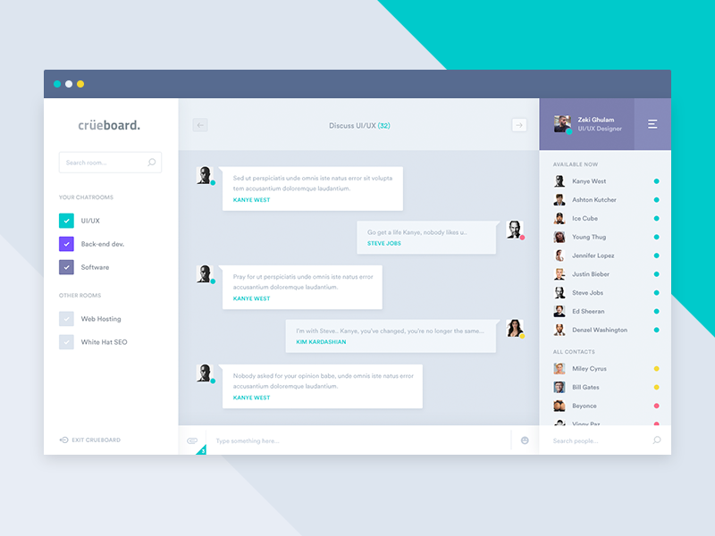 Chatroom View Chatroom Web Design Design