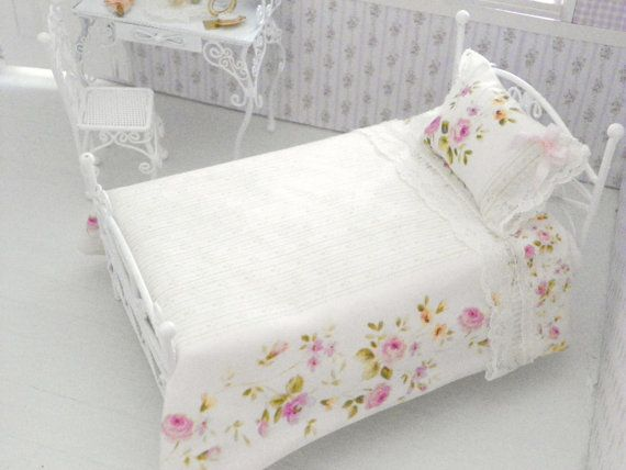 1/12 Scale Bed Sheets,bed Linen. Small Single ...