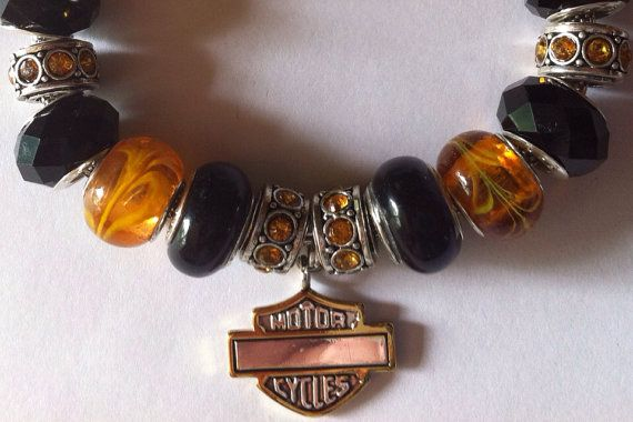 European Pandora style glass bead bracelet on Etsy, $35.00