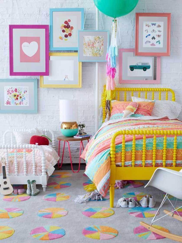 Decoration color e chambre enfant art sur textile chambre enfant chambre de petites filles - Chambre enfant coloree ...