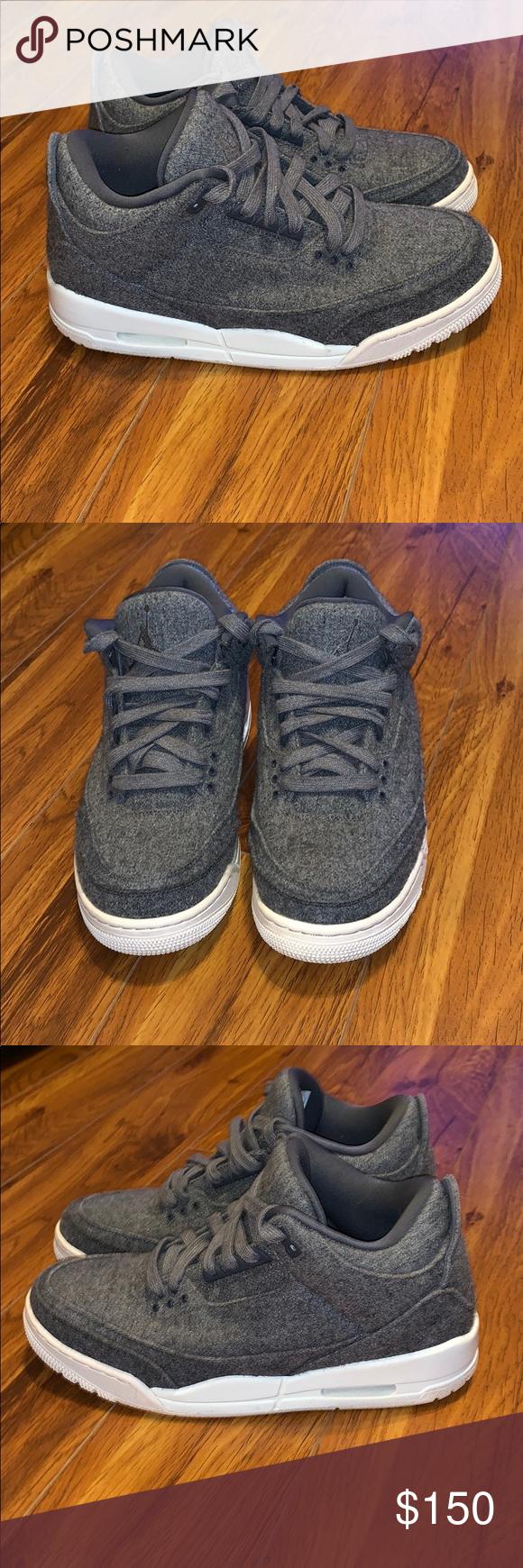 san francisco 3f7a8 11d3e Men s Jordan III 3 Wool Gray Sz 8.5 These Jordan shoes are in good used  condition. They are 100% Authentic. Jordan Shoes Athletic Shoes
