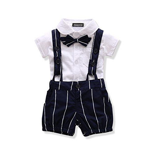 Ferenyi Us Baby Boys Bowtie Gentleman Romper Jumpsuit Overalls Rompers 0 6 Months White For Product Kids Outfits Baby Clothes Online Baby Boutique Clothing