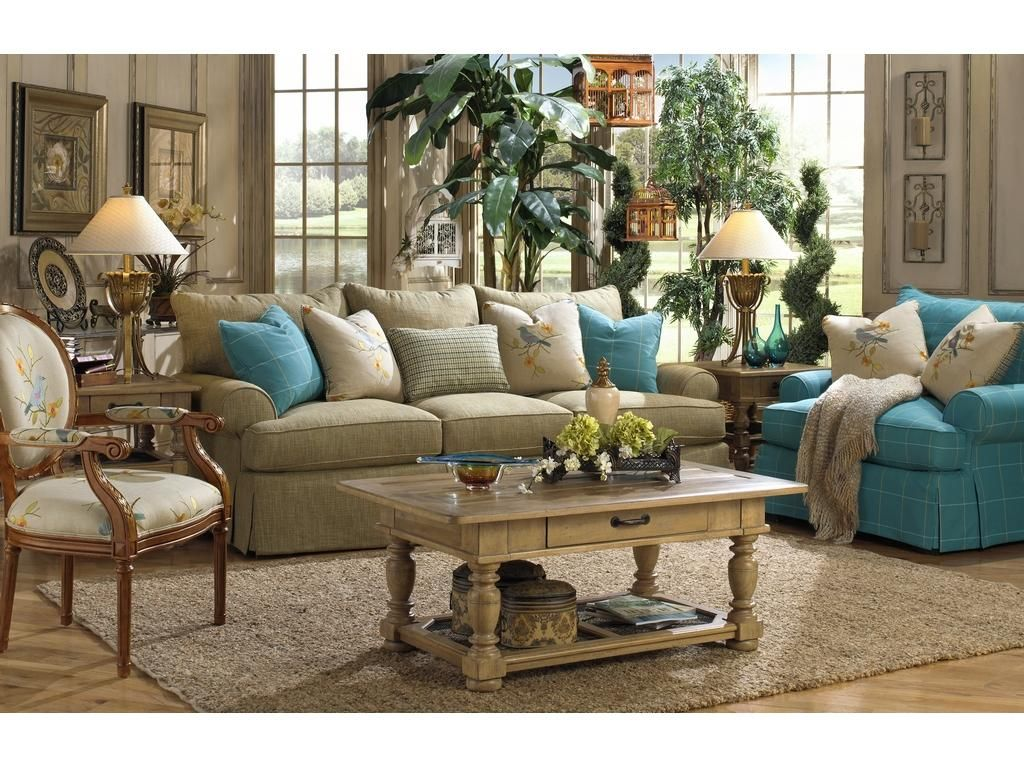 Paula Deencraftmaster Living Room Three Cushion Sofa P997050Bd Amusing Paula Deen Dining Room Set Inspiration Design