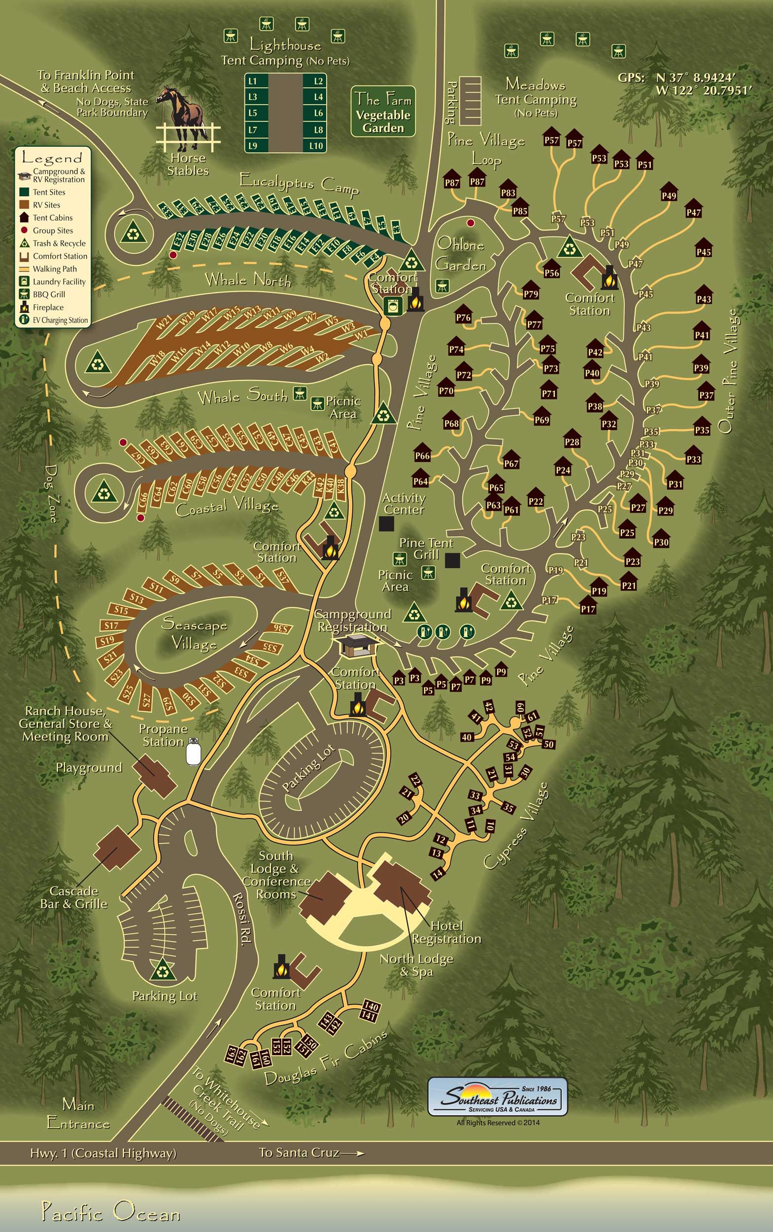 Koa Canada Map Pescadero, California Camping Activities | Santa Cruz North