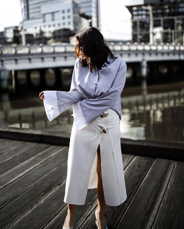 Coming to Style Structure this week - Oversized sleeves and midi skirts. Wearing @nice_martin and @christopher_esber