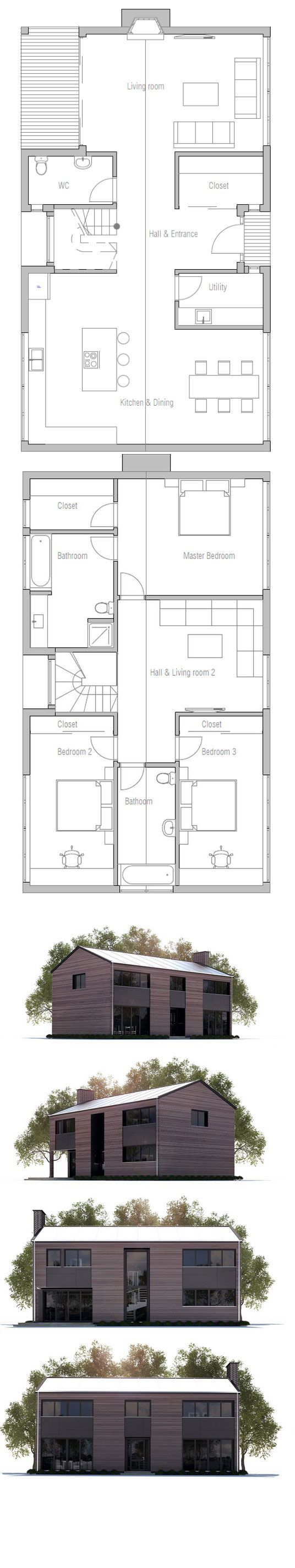 Floor Plan - esszimmer/küche und Wohnzimmer toll getrennt | Haus ...