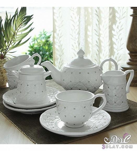 اطقم شاي 2015 اطقم شاي مميزه اطقم شاي تحفه 2015 Tea Set Tea Colorful Kitchen Accessories