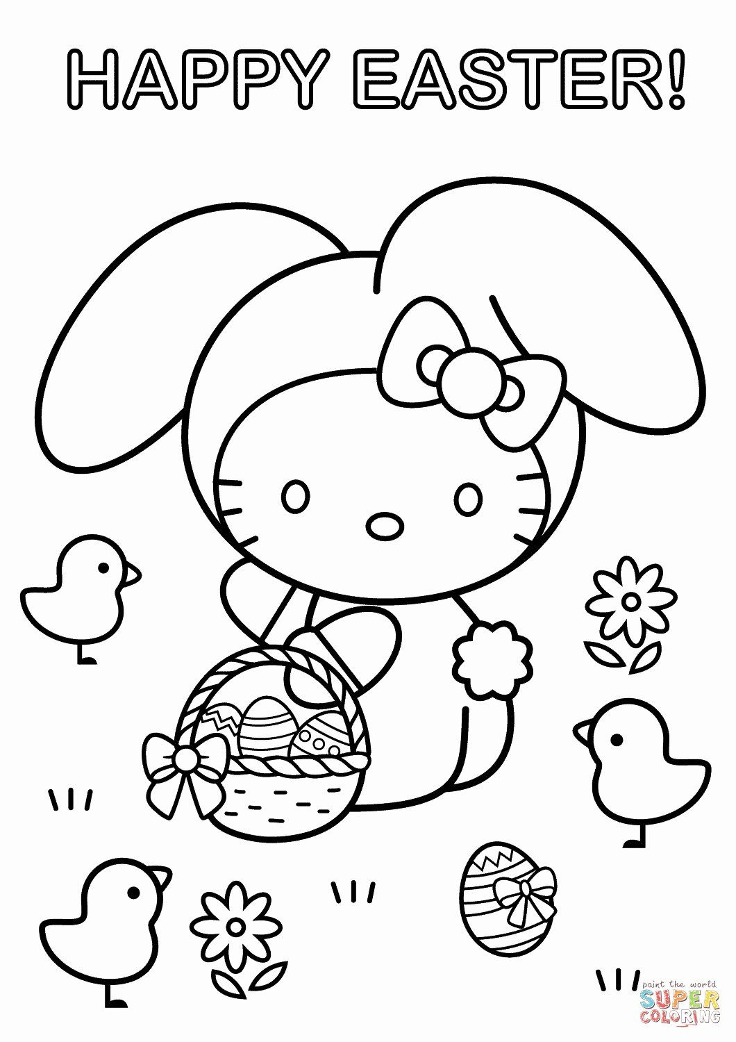 Printable Easter Coloring Page Di