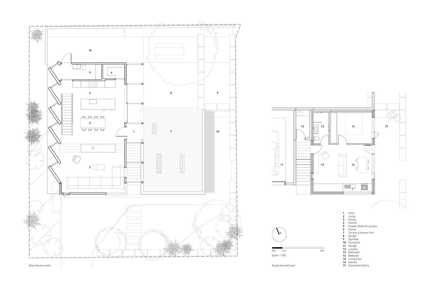 Gallery Of Blade House Takt Studio 19 Ground Floor Plan Passive Design Floor Plans
