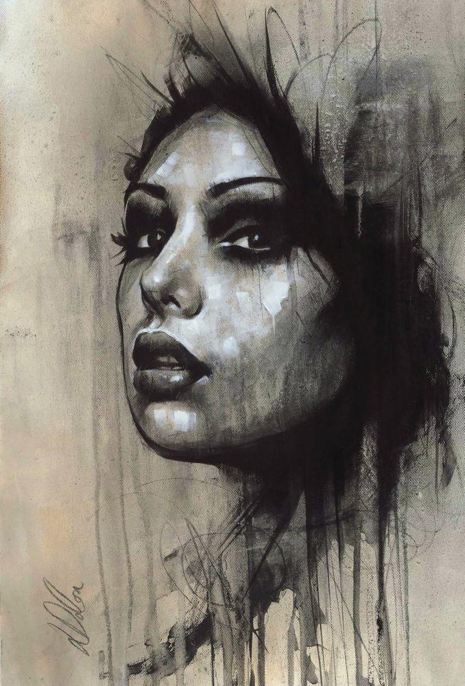 "Non Nude OIL & ACRYLIC CANVAS Painting ORIGINAL Fine Art By L Dolan 12x17"" Medb"