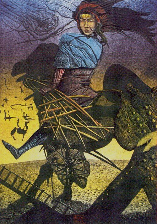 VII - The Chariot - Akron Tarot by S.O. Huttengrund