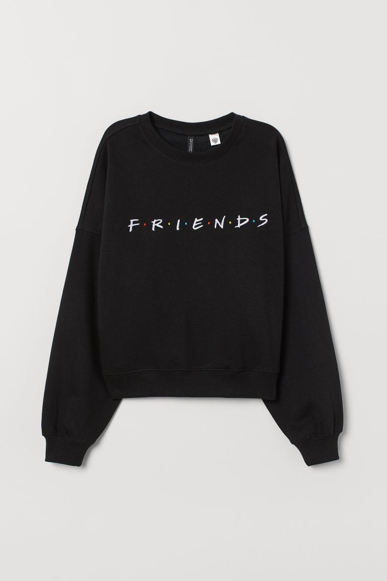 Sweatshirt With Motif Black Ladies H M Us Sweatshirts Cute Sweatshirts Trendy Hoodies [ 1152 x 768 Pixel ]