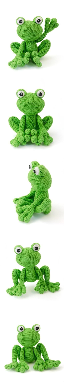 Kirk The Frog Amigurumi Pattern by rene | crochet | Pinterest ...