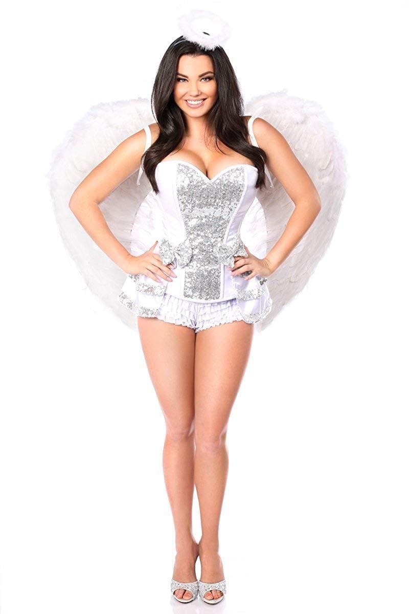 c3ce0b85e17d8 Daisy Corsets Women s Plus-Size Top Drawer 5 Piece Innocent Angel Costume