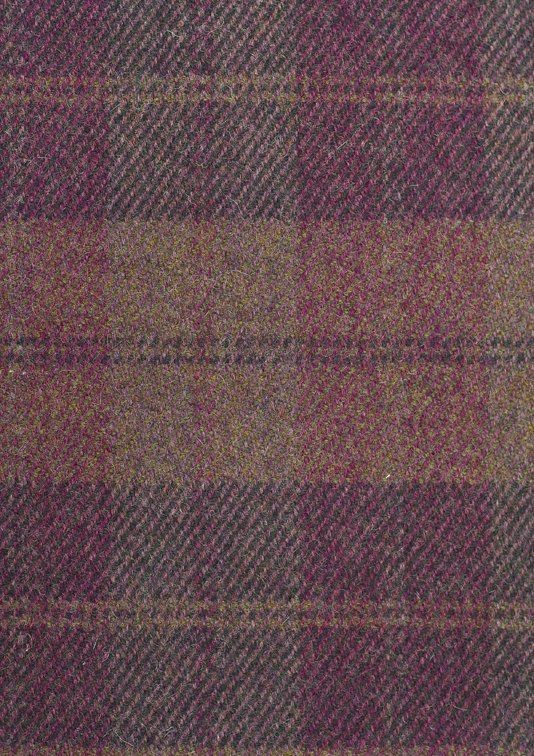 Drummond Wool Plaid Fabric 100 Wool Fabric In Purple And