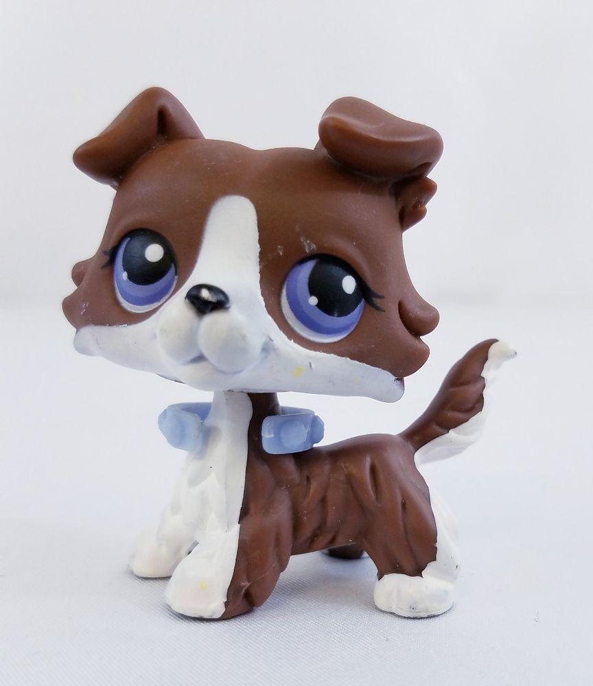 Littlest Pet Shop Lps Brown Collie Puzzle Dog No Purple Eyes