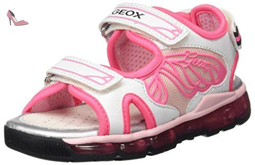 Geox Android A, Baskets Basses Fille, Rose (Rose/White), 36 EU