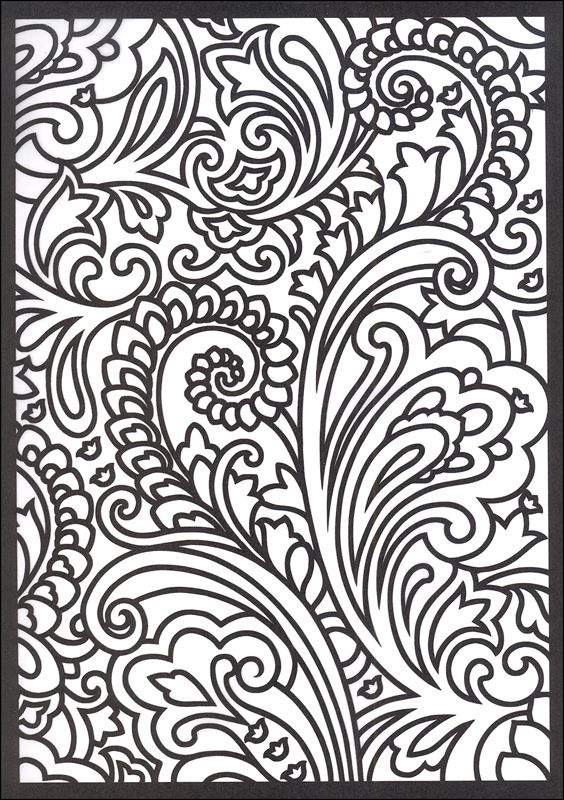 paisley coloring pages free - Google Search | Glass Design Images ...